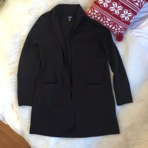 Eileen Fisher chocolate Italian wool cardigan Sz L